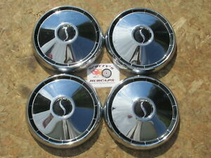 1964 65 66 Studebaker Commander Wagonaire poverty Dog Dish Hubcaps Set Of 4