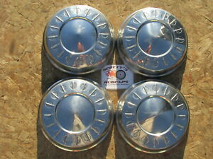 1962 Dodge Dart poverty Dog Dish Hubcaps Set Of 4