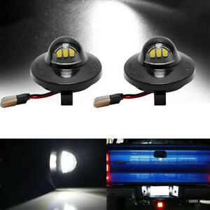 2x Led License Plate Lights For Ford F 150 1990 2014 Pickup Truck F250 F350 F450
