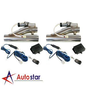 2x 3 Inch Electric Exhaust Downpipe Cutout E Cut Out Valve Controller Remote