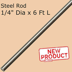 Stainless Steel Solid Round Stock 1 4 X 6 Ft 72 Long Annealed Unpolished Rod