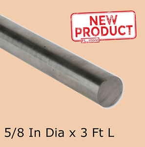 Stainless Steel Solid Round Rod 5 8 X 3 Ft Corrosion Resistant Unpolished Stock