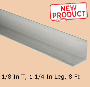 Aluminum Angle 1 8 In X 1 1 4 In X 8 Ft Length Unpolished Alloy 6061 90 Stock