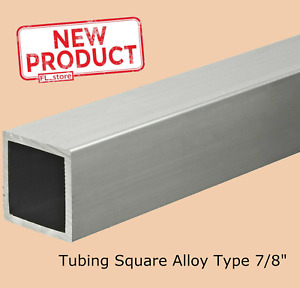 Aluminum Square Tube 7 8 In X 72 In Long 1 16 Alloy 6063 Wall Tubing Stock New