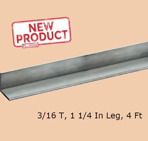 Aluminum Angle 3 16 Inch X 1 1 4 X 4 Ft Length Unpolished Alloy 6061 90 Stock