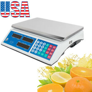 Supermarket Digital Weight Scale 30 Kg 66 Lb Price Computing Food Meat Scale Usa