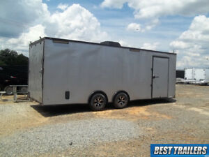 2021 8 X 24 Race Ready Enclosed Carhauler Trailer W Blackout Pkg Loaded 8 5 X 24