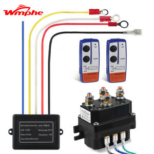 Wireless Winch Solenoid Relay Fit For Warn Kfi Utv Atv Winch Contactor 250a 12v