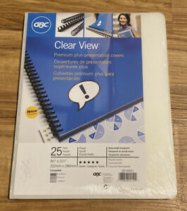 Gbc Clearview Presentation Covers Premium Frosted Binding Cover 25 Pieces d18