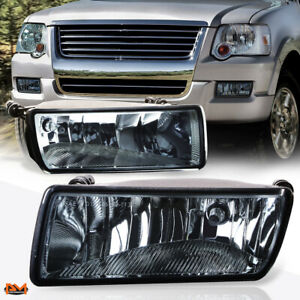 For 06 10 Ford Explorer Oe Style Smoked Lens Front Bumper Driving Fog Light lamp