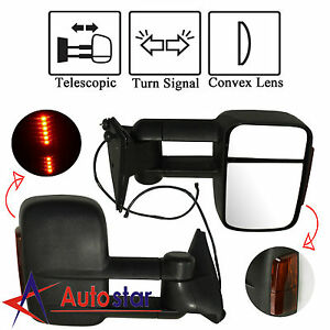 Led Signal Manual Towing Hauling Mirror Pair For 88 98 Chevy C K 1500 2500 3500