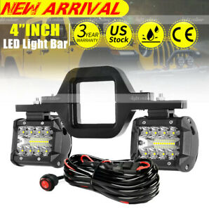 Tow Hitch Mount Bracket Led Work Light Pods Driving Backup Reverse Car Truck 4