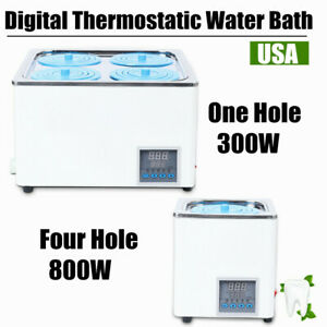 Digital Thermostatic Lab Water Bath Constant Temperature One Four Hole 110v Us