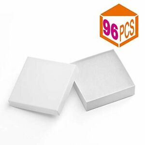 Jewelry Boxes paper Gift Boxes White Cardboard Bracelet Boxes With Cotton Filled
