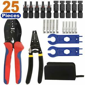 Solar Crimping Tools For Panel Pv Cable With Stripper cutter connectors spanner
