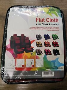 Universal Fit Full Set Fabric Car Seat Cover Fits All Seats Burgundy Black New