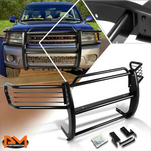 For 01 07 Sequoia Uck Suv Front Bumper Brush Grill Guard Protector Coated Black
