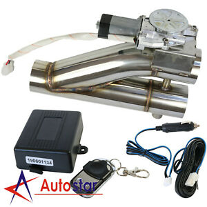 2 5 Inch 63mm Exhaust Control E Cut Out Dual Valve Electric Y Pipe W Remote Kit