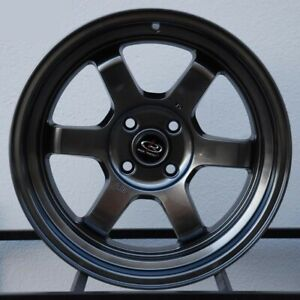 Rota Grid V 16x8 4x100 0 Hyper Black Wheels 4 16 Inch Rims