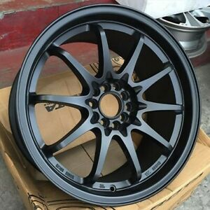 Rota Fighter 10 16x7 5x100 5x114 3 40 Flat Black Wheels 4 16 Inch Rims