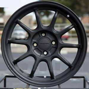 Rota F500 16x7 4x100 40 Flat Black Wheels 4 16 Inch Rims