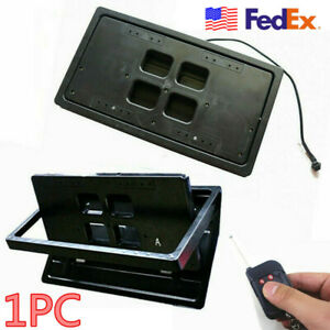 Retractable Remote Control Flip Flipper Number Swap Turn Blinds License Plate Us