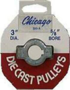 Chicago Die Casting 300a6 Single V Grooved Pulley 3 X 5 8