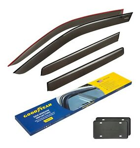 Goodyear Rain Guards Vent Visors For Nissan Frontier 2005 2020 Crew Cab Tape on
