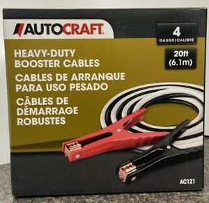 Autocraft Booster Cables Heavy duty 4 Gauge 20 Ft Ac121