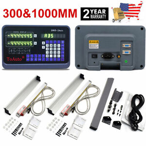 10 40 Linear Scale Digital Readout 2axis Dro Display Kit For Milling Lathe us