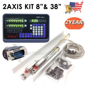8 38 Linear Scale Ttl Glass Encoder 2axis Digital Readout Dro Display Kit us