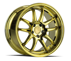 Aodhan Ds02 Ds2 18x9 5 5x114 3 15 Gold Vacuum Wheels 4 73 1 18 Inch Rims