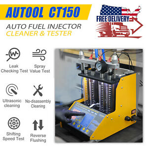 Ultrasonic Fuel Injector Cleaner Tester For Auto Motorcycle 4 Cylinder Ct150