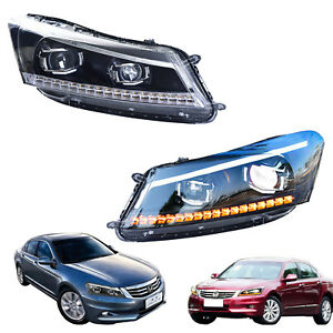 Led Drl Headlights For Honda Accord 2008 2012 Turn Signal Sequential Indicator