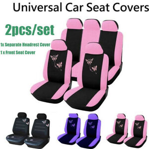 2pcs Car Seat Covers Full Set Car Seat Rear Front Auto Seat Cover Mat Automobile