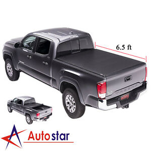 For 2007 2018 Toyota Tundra Tonneau Cover Roll Up Lock Soft 6 5ft 78 Short Bed