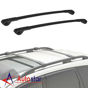 2pcs Black Crossbars Roof Rack For 2014 2019 Subaru Forester Crosstrek Impreza