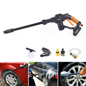 Car Wash Machine High Pressure Auto Spray Gun Pump With Rechargeable Battery 12v