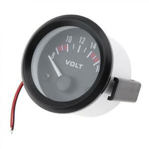 8 16v Car Marine Motor 2 52mm Led Voltmeter Voltage Volt Meter Gauge Meter