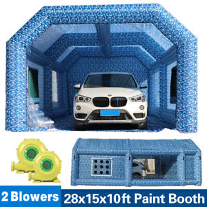 Inflatable Spray Booth Paint Tent Mobile Portable Car Workstation Us