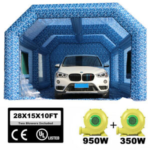 28x15x10ft Inflatable Spray Booth Paint Tent Mobile Portable Car Workstation Usa