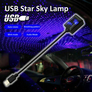 Usb Car Interior Starry Blue Sky Lamp Roof Ambient Led Star Lights Projector