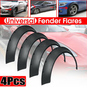 4x Flexible Universal Car Fender Flares 3 9 Extra Wide Body Wheel Arches Cover