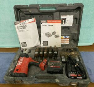 Ridgid Pro Press Crimper Set Model Rp340 b 6 Jaws 1 2 Through 2