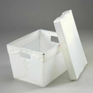 18 1 2x13 1 4x12 Corrugated Plastic Totes Postal Nesting Without Lid Pkg Qty 10