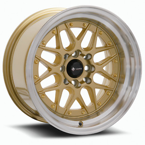 Vors Vr7 15x9 4x100 4x114 3 0 Gold Wheels 4 73 1 15 Inch Rims