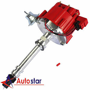 High Performance Red Cap Hei Distributor For Chevy Gm Small Block Big Block 65k