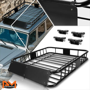 48 X 40 Mild Steel Roof Rack Van Suv Baggage Cargo Carrier Basket W Wind Fairing