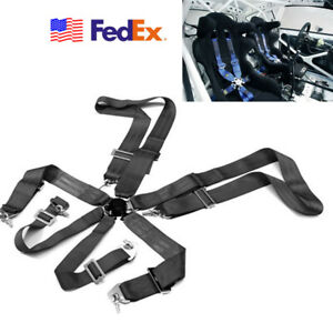 3 6 Point Cam Lock Race Safety Adjustable Strap Nylon Harness Vehicle Racing Us
