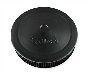 Holley 120 102b 14 Black Air Cleaner Assembly Holley Logo W Washable Element
